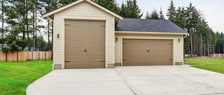 outdoor two car garage